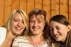 Mother and daughters. Stock Images
