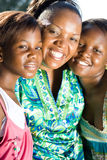 Mother and daughters. Happy african family mother and daughters Stock Photography