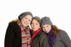 Mother daughters love affection trust Stock Photo