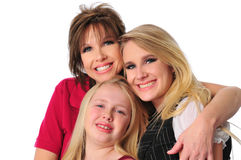 Mother and daughters smiling Stock Photos
