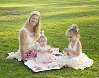 Mother, Daughters, Tea Party Royalty Free Stock Image