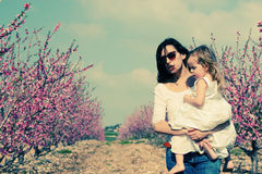 Mother and daughters w Royalty Free Stock Photo