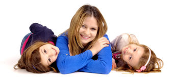 Mother with daughters Stock Photo