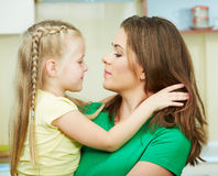 Mother with daughther Stock Photo
