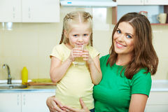 Mother with daughther stock photography