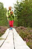 Mother and daughthter walking in forest Royalty Free Stock Image
