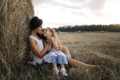 Mother and daugter stock image