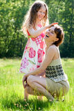 Mother and daugther relationship Stock Photography