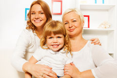 Mother dauhter and grandmother portrait Stock Images
