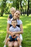Mother with dausghter and son Royalty Free Stock Photo