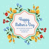 Mother day blue Stock Photos