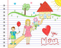 Mother Day card Royalty Free Stock Photography