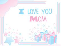 Mother day card with funky pattern Stock Image