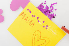 Mother day card on white background Stock Images