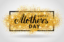 Mother day gold glitter background Royalty Free Stock Photo