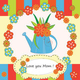 Mother Day Greeting Card Stock Photography