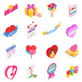 Mother Day isometric 3d icons Royalty Free Stock Photography