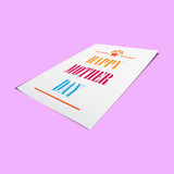 Mother day on paper mock up background Royalty Free Stock Images