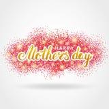Mother day pink glitter background3 stock illustration