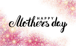 Mother day pink glitter background2 royalty free illustration