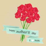 Mother day and rose Royalty Free Stock Image