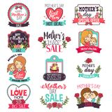 Mother Day Sale Sign Clipart Illustration Stock Photography
