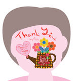 Mother day sewing hexagon thank you Stock Photo