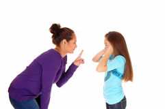 Mother disciplined her girl. Royalty Free Stock Photography