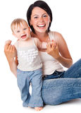 Mother and doughter stock photography
