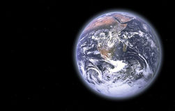 Mother Earth. Earth Series - images depicting panoramic scenic shots of our planet; composite images and illustrations Royalty Free Stock Photography