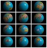Mother Earth in 3D. 3D Mother earth with various profiles of the continents royalty free illustration