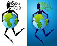 Mother Earth Abstract Figure Royalty Free Stock Photo
