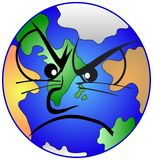 Mother earth is depressed. Our mother earth is depressed Royalty Free Stock Photo