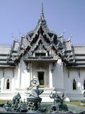 Mother Earth Fountain and Thai Temple Royalty Free Stock Photography