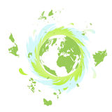 Mother Earth quickly rotating Royalty Free Stock Image