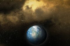 The mother Earth in space. Royalty Free Stock Photography