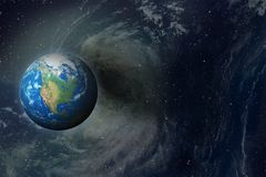 The mother Earth in space Stock Image
