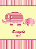 Mother elephant and baby elephant. Royalty Free Stock Images