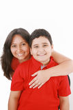 Mother embarce her son Stock Image