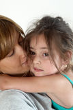 The mother embracing daughter Stock Photography