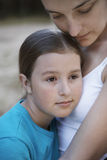 Mother Embracing Daughter Royalty Free Stock Photo
