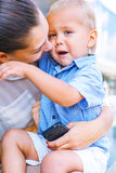 Mother embracing her little son Royalty Free Stock Image