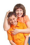 Mother embracing son Royalty Free Stock Photography