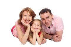 Mother fadern och dottern Fotografering för Bildbyråer