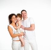 Mother, Father And Their Child Together In Studio Stock Images