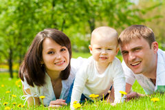 Mother, father and baby Stock Photography