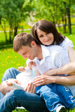 Mother, father and baby Royalty Free Stock Photos