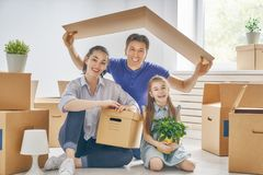 Concept of housing for family Stock Photography