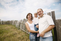 Mother and father with child Stock Photography