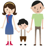 Family. A mother, a father and a child holding hands Stock Images